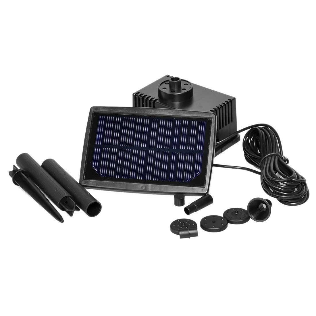 TOOGOO(R) Solar Panel Powered Fountain Garden Pool Pond Submersible Water Pump 5m by TOOGOO(R) (Image #3)