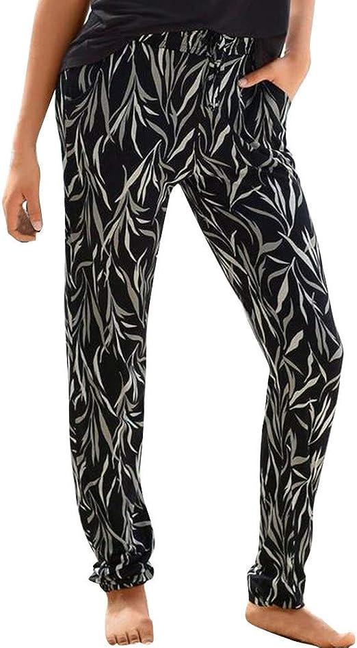 RISTHY Pantalones de Playa Vacaciones Mujer Pantalones Hippies ...