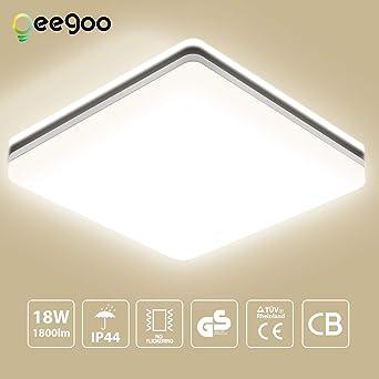 LED Deckenleuchte Bad, Oeegoo 18W 1550LM LED Flimmerfreie ...