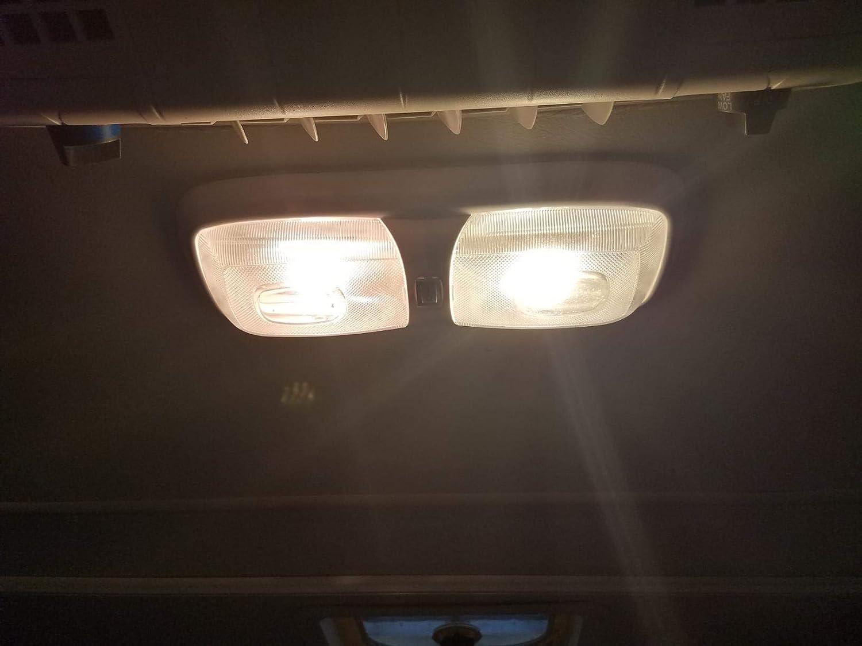 JAVR Pack of 10 Warm White 3000K 1142 BA15D LED Bulbs 5050 27-SMD Replacement Lamps for 12V Interior RV Camper Trailer Lighting Boat Yard Light Brake Tail Bulbs