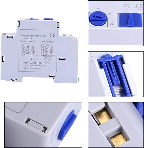 Temporizador para luz de la escalera, AC 220-240 V Mecánico ...