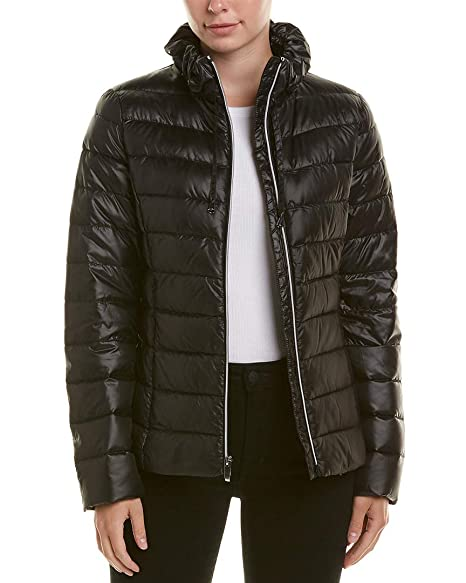 Amazon.com: Via Spiga - Puffer para mujer (plegable, suave ...