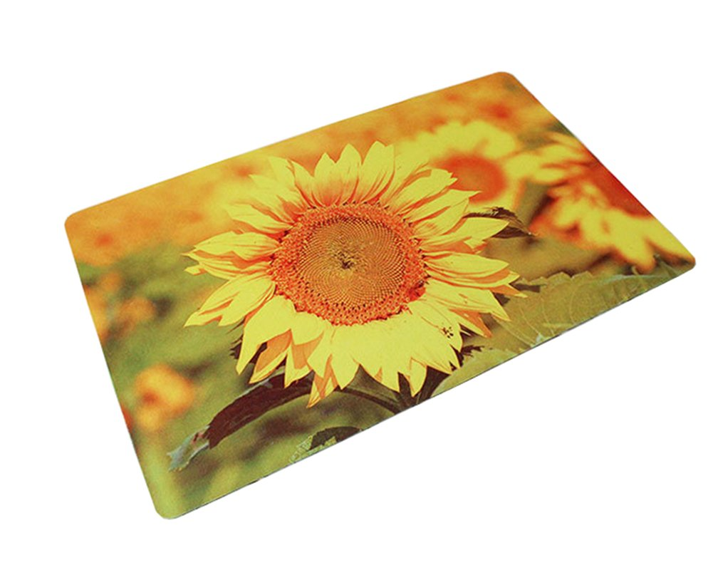 Lopkey Sunflower anti-slip Polyester Carpet Doormat Bedroom Floor Mat Kitchen area rug carpet (23.6 x 16)