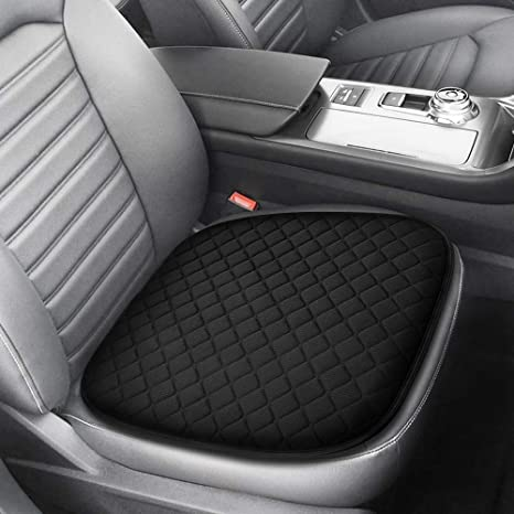 Tsumbay Ice Silk Car Seat Cushion Car Mesh Breathable Cool Seat Cushion for Summer,Pain Relief Memory Foam Seat Cover Pad with Non Slip Bottom,for Car,Office Chair,Wheelchair and More Black