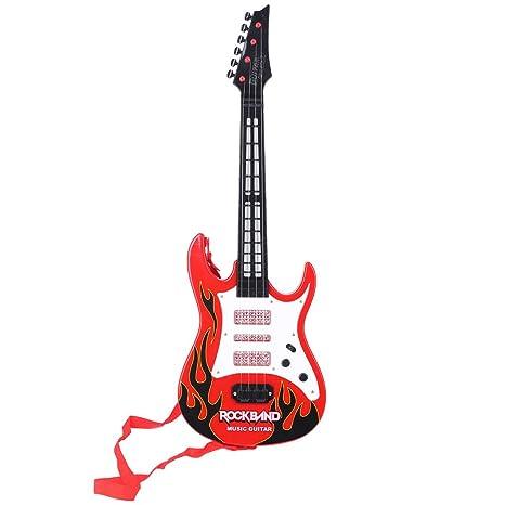 JAGENIE Fire Rock Music - Guitarra eléctrica con Instrumentos Musicales, Juguete Educativo para niños