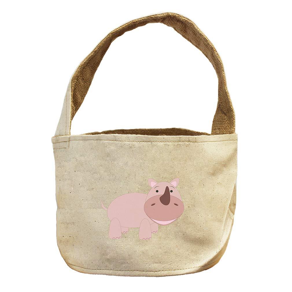 Style in Print Unicorn Pink Animals Canvas and Burlap Storage Basket