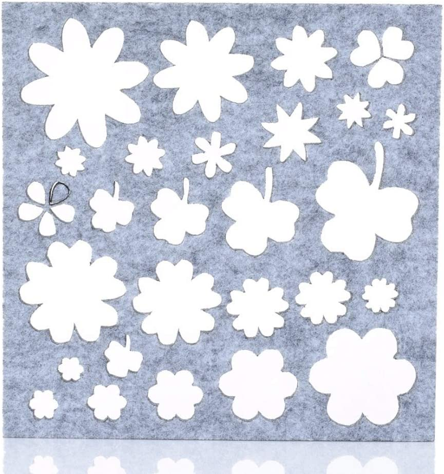 7pcs Practical Needle Felting Applique Mold Handicraft Wool Felt Woolen Shaping Mold 160 160 4mm// Sewing Craft for Beginner Kids and Adults