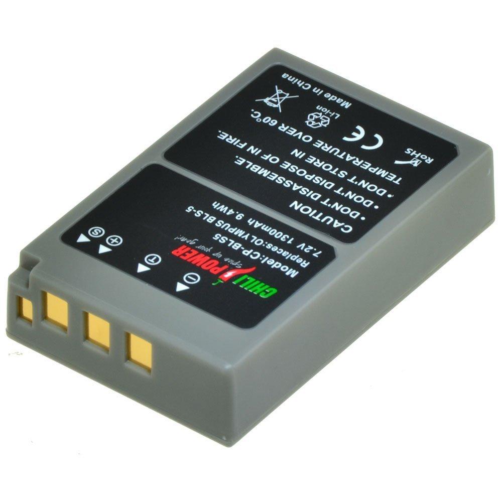 Chili Power PS BLS5, PS bls50, BLS 5, BLS 50 batteria per Olympus OM-D E-M10, Pen E-PL2, E-PL5, E-PL6, E-PL7, E-PM2, Stylus 1 BLS 50batteria per Olympus OM-D E-M10 ChiliPower CP-BLS5
