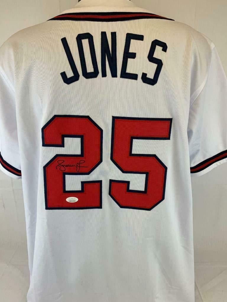 lowest price 81294 9f892 Autographed Andruw Jones Jersey - Coa - JSA Certified ...