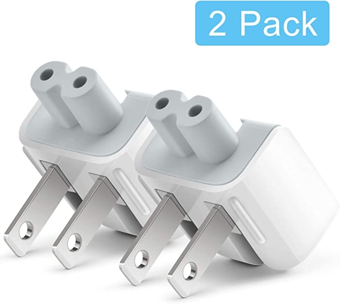 Mac AC Power Adapter Plug Duck Head US Wall Charger AC Cord US Standard Duck Head Compatible with Mac Book/Mac iBook/iPhone/iPad/iPod AC Power Adapter Brick