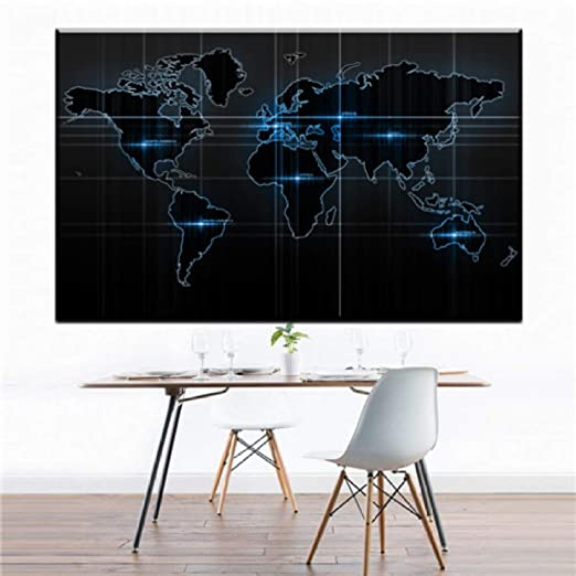 Retro Wall Art Home Decor Mapa clásico del mundo Cartel ...