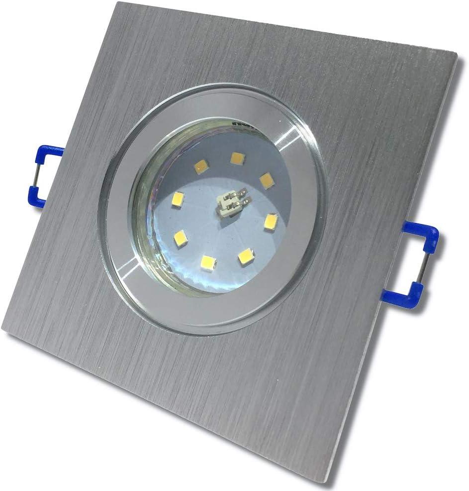 LED Bad Einbauleuchte 12V inkl 1 x 3W SMD LM Farbe BiColor IP44 LED Einbaustrahler Neptun Eckig 3000K Deckenspot