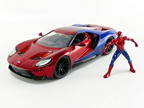 Jada  Hollywood Rides  Ford Gt With Spiderman Figure  Scale