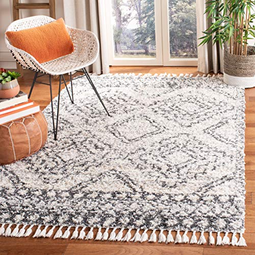 Safavieh SGML937A-8 Melrose Shag Collection SGML937A Ivory and Grey Area (8