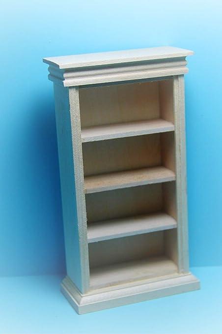 Furniture Dolls House Miniature Bare Wood Bookcase Corporate