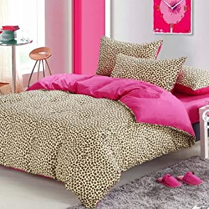 pink cheetah print bedding leopard print duvet cover set full