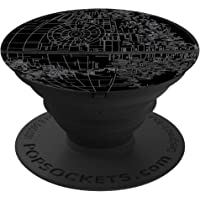 PopSockets 100161 Gen1 Death Star Expandable Phone Grip and Stand, Black