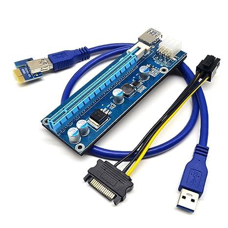 PCI-E 16 X a 1 x Tarjeta vertical con adaptador de tarjeta W ...