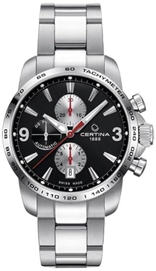 Certina - Reloj de Automático para Hombre, correa de Acero inoxidable color Plateado: Amazon.es: Relojes