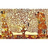 Wieco Art - Tree of Life Large Modern Stretched and Framed Giclee Canvas Prints by Gustav Klimt Famous Oil Paintings Reproduction Artwork Pictures on Canvas Wall Art for Living Room Bedroom Home Decorations