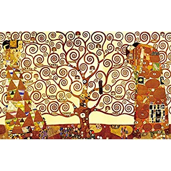 Wieco Art   Tree Of Life Large Modern Stretched And Framed Giclee Canvas  Prints By Gustav Part 79