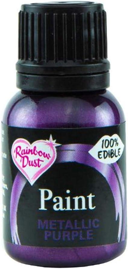 Colorante alimentario violeta metalizado de Rainbow Dust comestibles