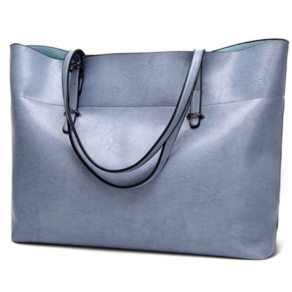 Nikauto Sac fourre-tout en cuir pour femmes, grand sac à main de transport d'épaule de femme Zipper sac de travail de femme