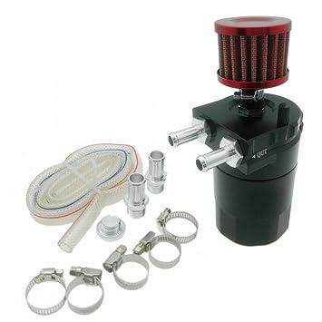 Heinmo Baffled - Depósito de aceite universal de coche con filtro de respiración, color negro: Amazon.es: Coche y moto