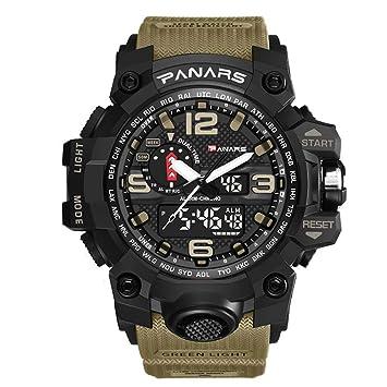SW Watches PANARES Reloj Militar De Hombre Reloj De Pulsera De Cuarzo para Deportes Las Mejores Marcas De Lujo A Prueba De Agua,Flesh: Amazon.es: Deportes y ...