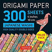 "Origami Paper 300 sheets Japanese Washi Patterns 4"" (10 cm): Tuttle Origami Paper: High-Quality Origami Sheets Printed with 12 Different Designs"