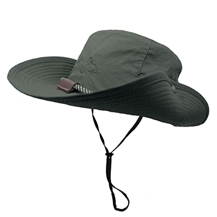 OMECHY Outdoor Bucket Hat Summer UV Protection Sun Cap Boonie Fishing  Camouflage Hat c666316f491