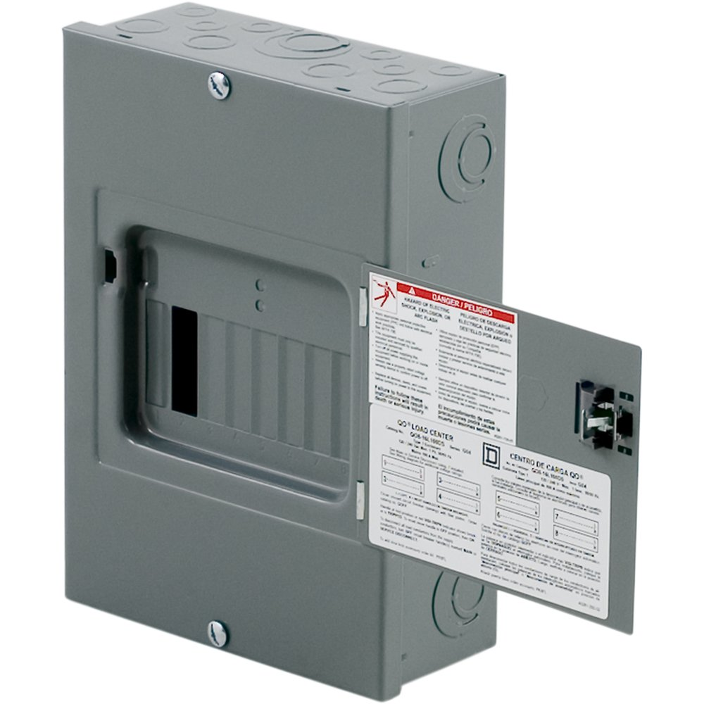 Homeline Load Center Wiring Diagram 70a Square D By Schneider Electric Qo816l100ds Qo 100 Amp 8 Space 16 Circuit Indoor Surface Mount Main Lugs With Cover And Door Breaker