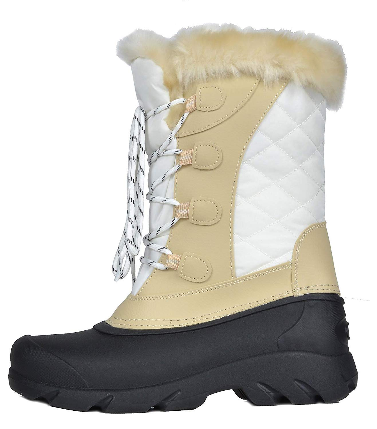 246ddcd7542 Women LINX DREAM PAIRS Women s Faux Fur Lined Mid Calf Winter Snow Boots