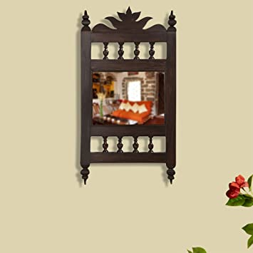 Buy Exclusivelane Maharaja Handcrafted Wall Mirror Decorative Mirrors For Wall Art Decorative Mirrors For Bedroom Console Mirror For Bathroom Mirrors Cube Dressing Mirror Designer Online At Low Prices In India