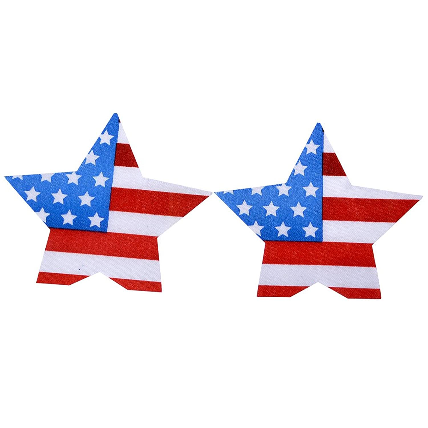 Ayliss 10Pairs Sexy USA Flag Star Disposable Nipple Covers Adhesive Pasties