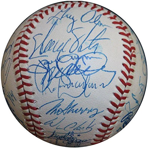 1990 All Star Game Team Signed Baseball Ryne Sandberg Barry Bonds Gwynn - PSA/DNA Certified - Autographed Baseballs 1990 Mlb All Star Game