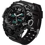 Men's Analog Sports Watch, LED Military Wrist...