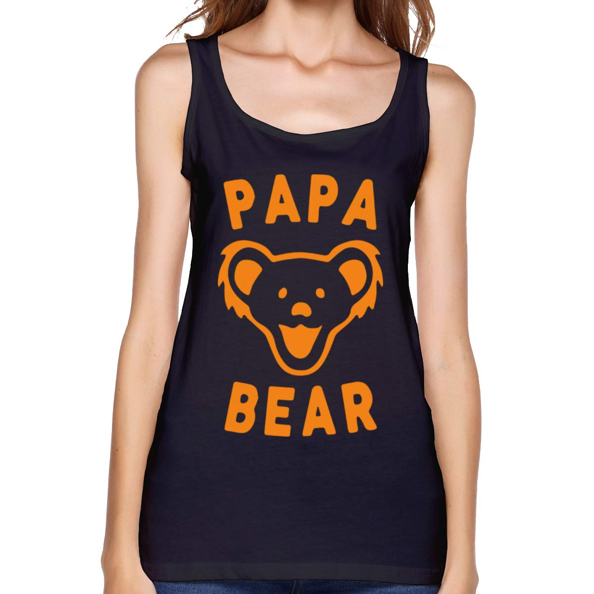 Viihahn Papa Bear Design Funny Sports Sleeveless Tank Top Shirt