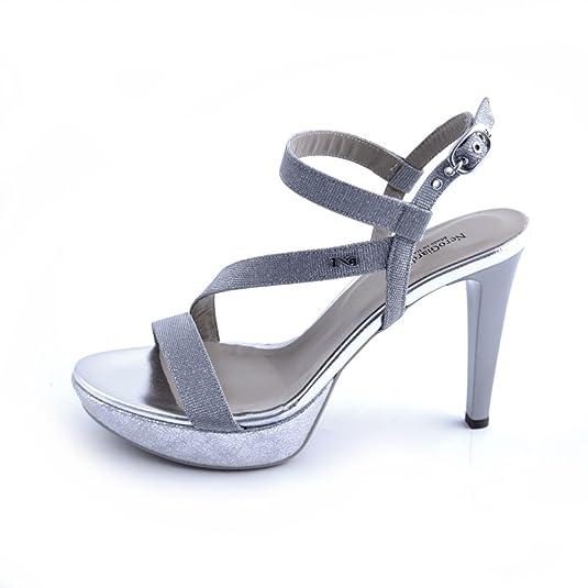 Nero Giardini Sandalo Donna MOD. P806070DE Ghiaccio  Amazon.it  Scarpe e  borse 766b2e24104