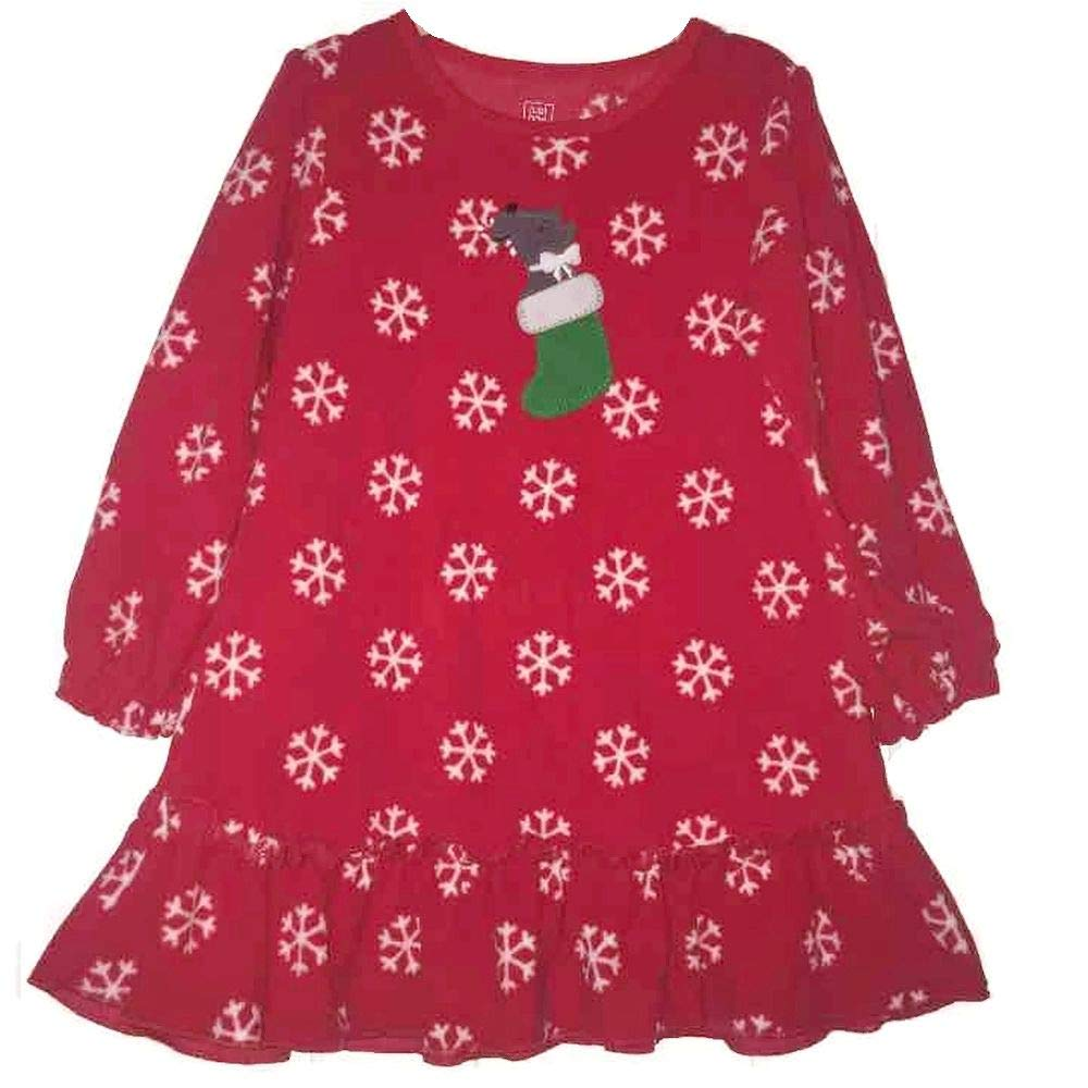 Just One You Toddler Girls 4T Red Snowflake Terrier Dog Holiday Print Nightgown