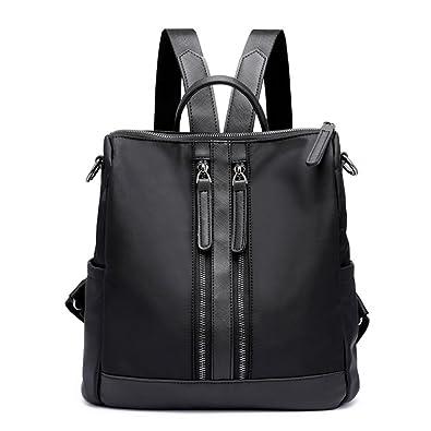 Amazon.com  Hynbase Girls Fashion Korean Mini Nylon Purse Backpack Cross  Body Bag Black  Shoes 0d8b02fd8d2e4
