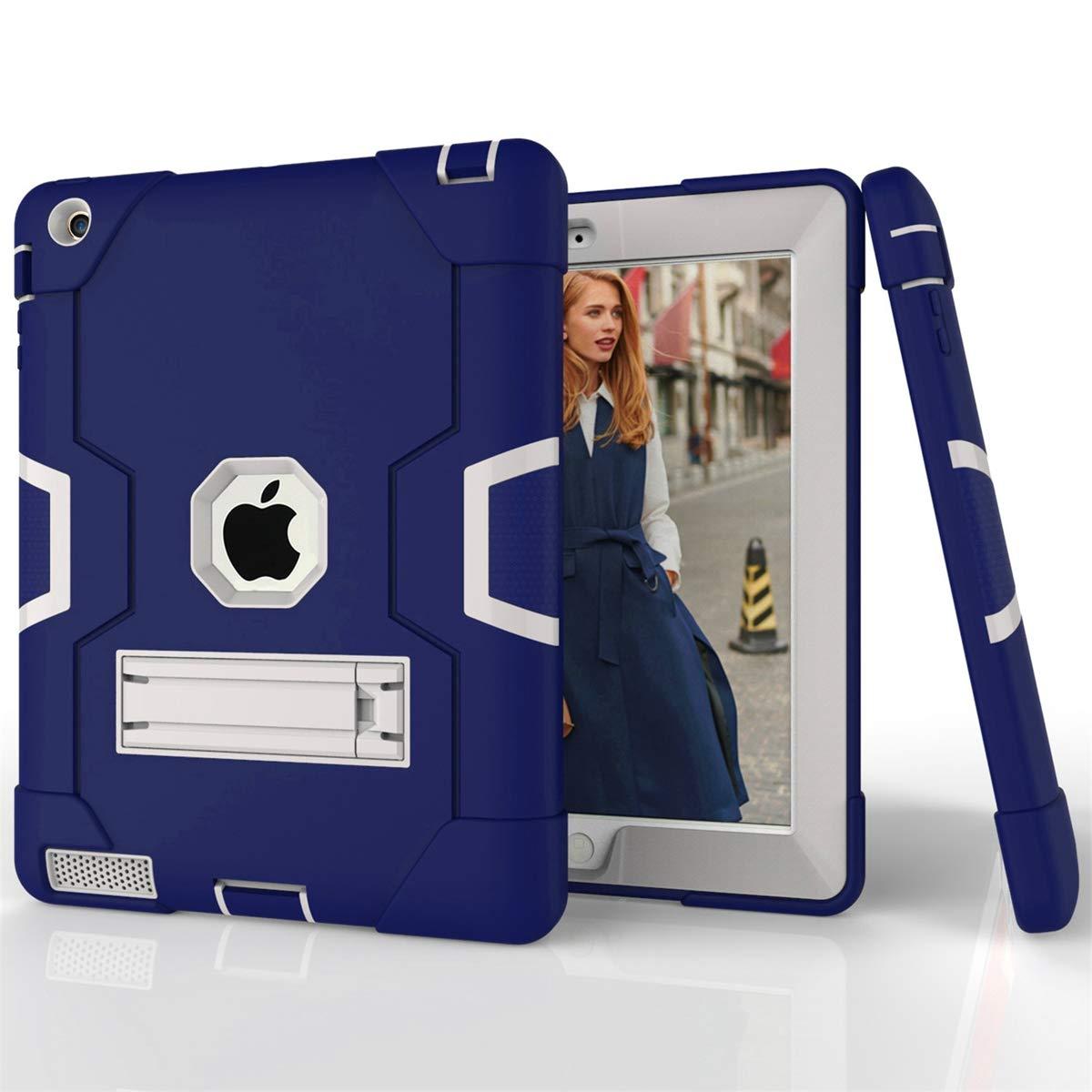 最新エルメス AICEDA iPad 2 2 3 Grey 4 カバー TPU 4対応 スキンプロテクター 保護電話ケースカバー iPad 2 3 4対応 (アクア+グレー), RK27-O9-976 Navy Blue + Grey B07L4P6B4T, SELECTSPORTS セレクトスポーツ:85da6611 --- a0267596.xsph.ru