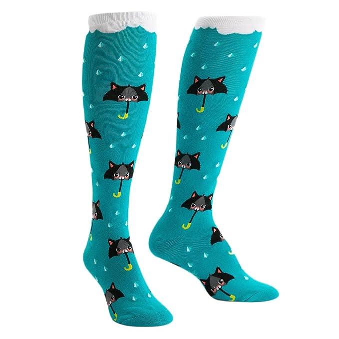 DEFFWBb Good Kitty Cat Over The Calf Athletic Socks Mujer Calcetines de deporte