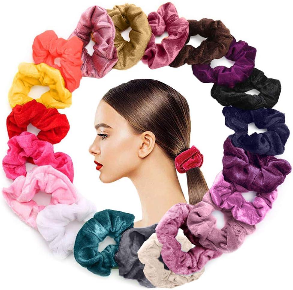 Sweet Girls Velvet Elastic Hair Rope Scrunchie Ponytail Holder Rubber Bands