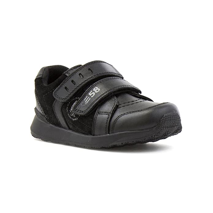 Hush Puppies - Zapato con doble abrojo, negro, para niño Hush Puppies - Talla 5 Child UK / 21.5 EU - Negro