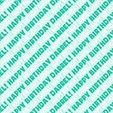Darrel Happy Birthday Premium Gift Wrap Wrapping Paper Roll - Teal