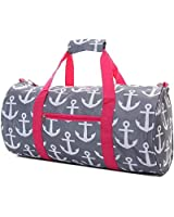 "19"" Round Print Travel Gym Duffle Bag with Handles"