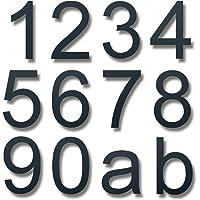 Lukadria XXL huisnummer 0 - roestvrij 2D-getal voor de huismuur - weerbestendig huisnummer van roestvrij staal V2A - 30…