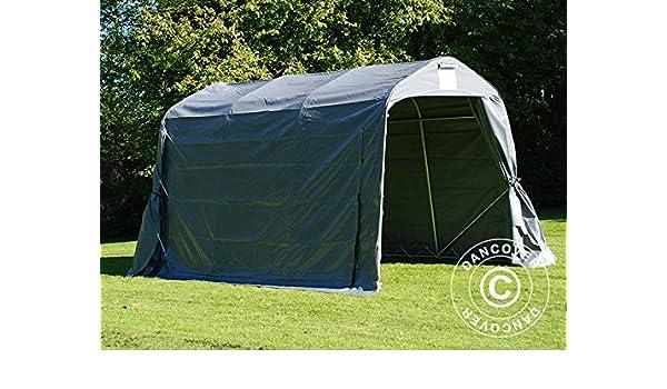 Dancover Carpa de Almacenamiento Pro 2,4x3,6x2,34m PVC, Gris: Amazon.es: Jardín