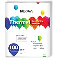 "Nuova Premium Thermal Laminating Pouches 9"" x 11.5"", Letter Size, 3 mil, 100 Pack (LP100H)"